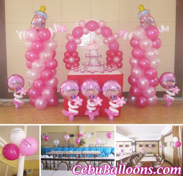 Girl Christening Balloon Setup at Sugbahan