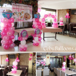 Girl Christening Balloon Setup at Sugbahan Ground Floor