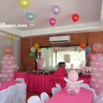 Girl Christening Decors with Photographer at Cafe Angelica