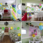 Girl Christening using Neon Balloons at Simply J's Restaurant