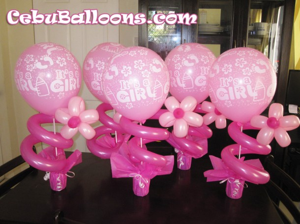 Girl Dedication with Flower Centerpieces