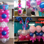 Girl's Christening Balloon Decor at Cafe Breeze in Bayfront