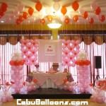 Girl's Christening Balloon Decoration at Hannah's Party Place