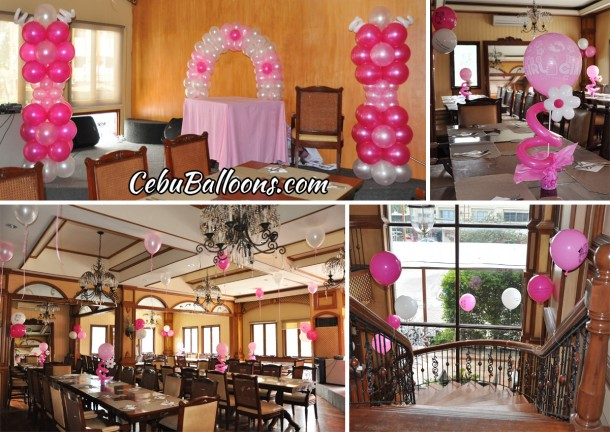 Girl S Christening Balloon Decoration At Pino Restaurant