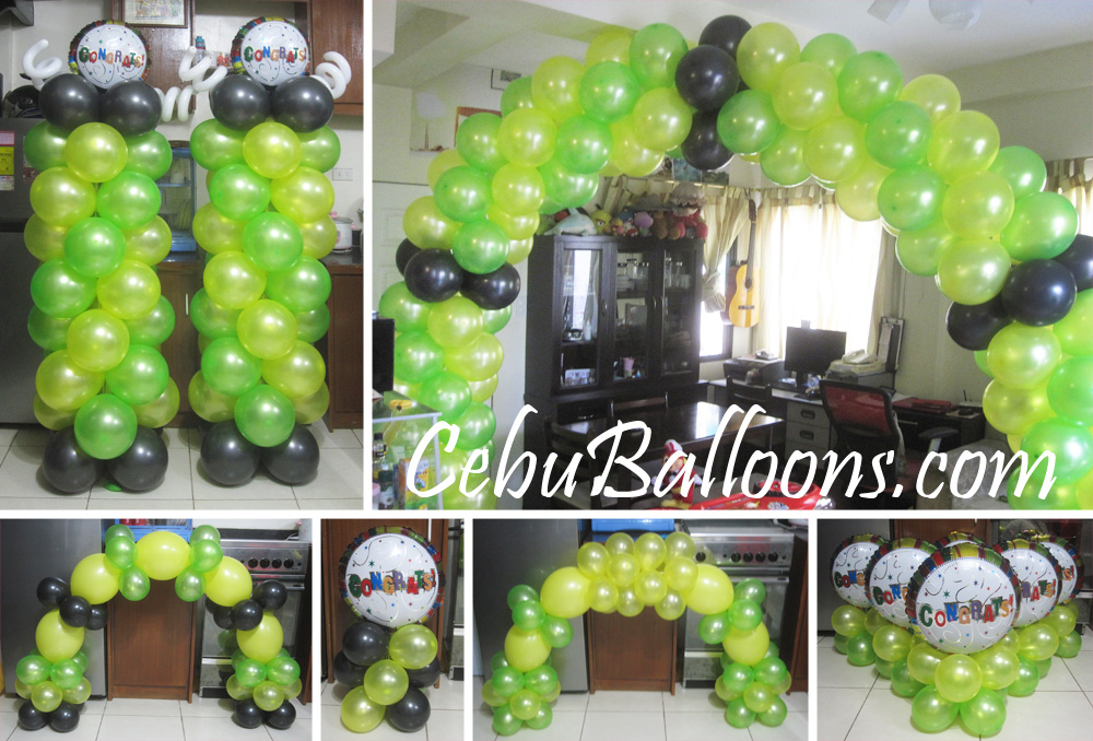Graduation cebu balloons and party supplies for Balloon decoration packages