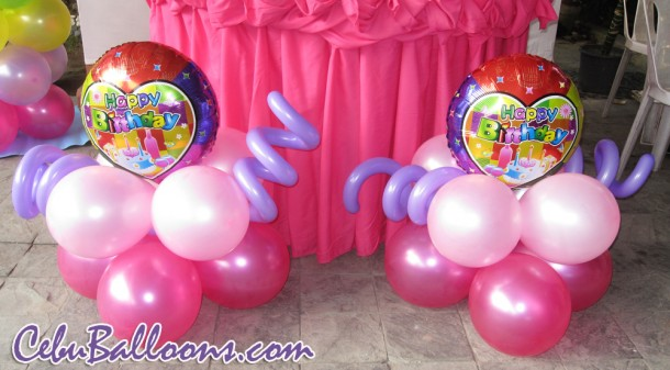 Ground Decor with generic Birthday Foil Balloon