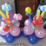 Ground Decors for a Boy & Girl Double-Birthday