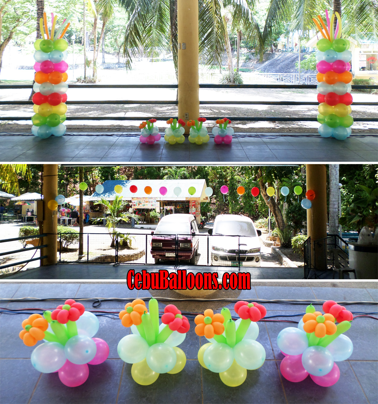 Hawaiian balloon decoration for a 60th birthday at tingub for 60th birthday party decoration