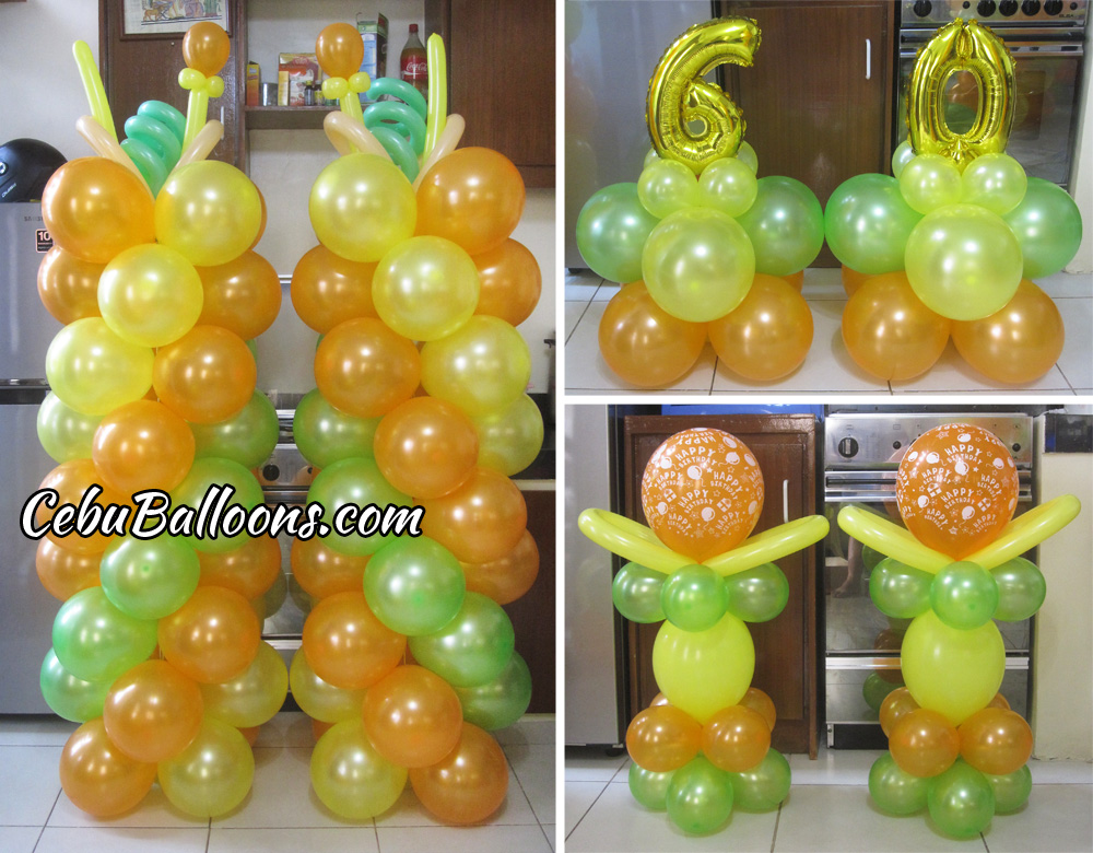 Hawaiian Balloon Decoration For A 60th Birthday At Tingub