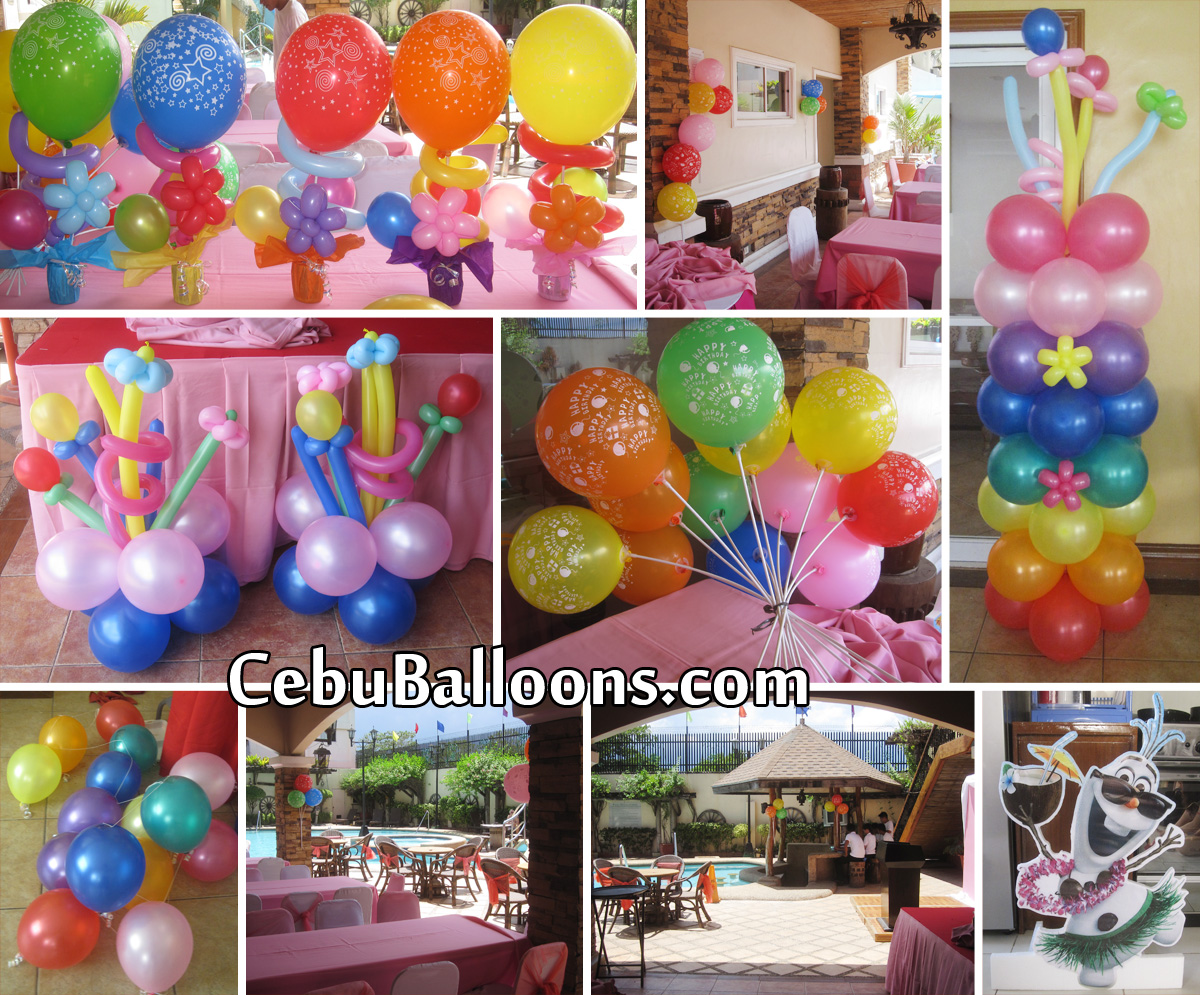 Cebu's trusted name in Balloon Decorations & Birthday Package  Cebu ...