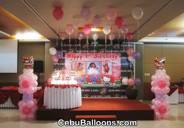 Hello Kitty Balloon Decoration at Allure Hotel and Suites