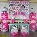 Hello Kitty Balloon Decoration for Jeca's 2nd Birthday at Blue Reef Resort