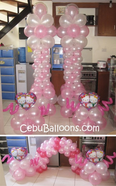 Hello Kitty Balloon Decors at Aicila Suites