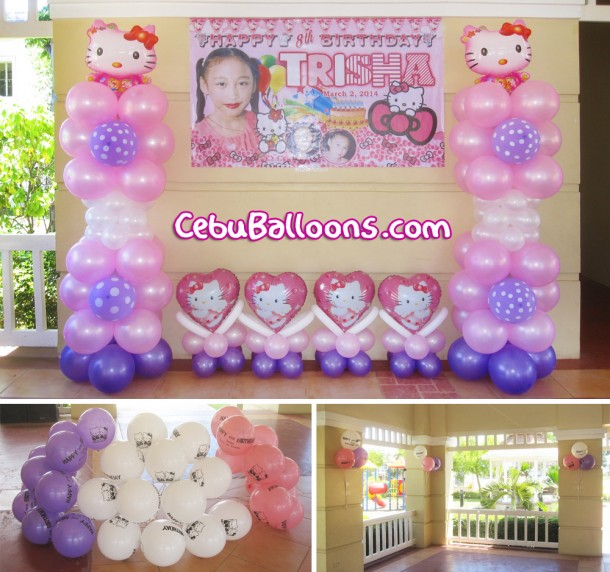 Hello Kitty Balloon Decors at Aldea del Sol