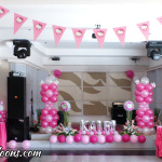 Hello Kitty Balloon Decors for Kairi's 1st Birthday at Aicila Suites