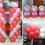 Hello Kitty Balloon Decors with Bubble Show at Susing's Compound