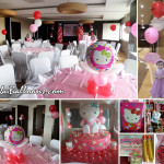 Hello Kitty Balloon Decors with Party Supplies at Badian Room in Bayfront Hotel