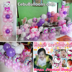 Hello Kitty Balloon Decors with Tarp & Party Host at Lower Hermag Village