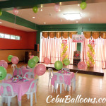 Hello Kitty Balloon Package with Tarp, Standee & Party Supplies at Hannahs