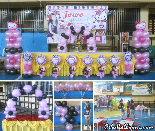 Hello Kitty Balloon Setup for a Debut at Pasil Sports Complex