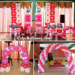 Hello Kitty Balloon Setup with Letter Standees at Hannah's Jakosalem