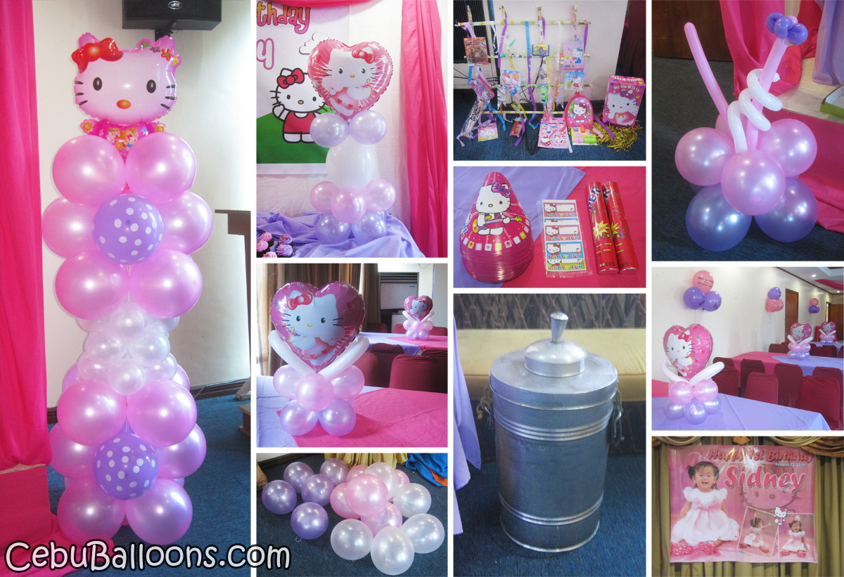 Hello kitty decoration party package at golden peak hotel cebu balloons and party supplies for Decoration hello kitty chambre