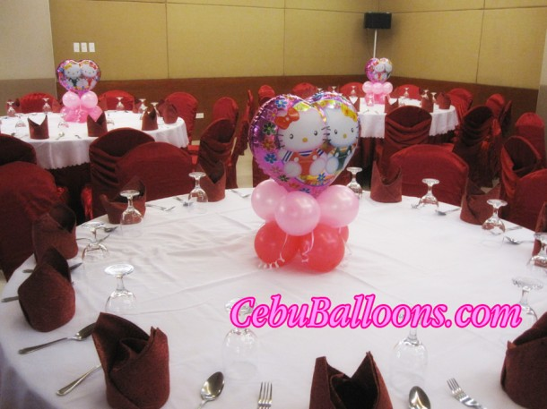 Hello Kitty Mylar with Small Balloons