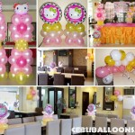 Hello Kitty (Pink, White, Yellow) Balloon Decoration at Sugbahan (Ground Floor)