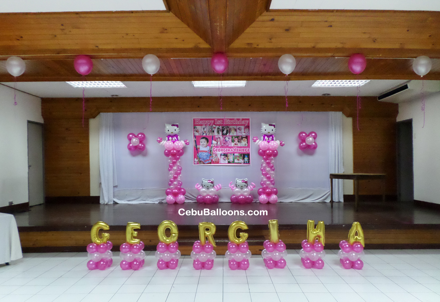 Hello kitty cebu balloons and party supplies for Balloon decoration for stage