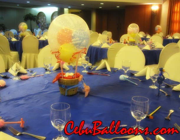 Hot-air Balloon Centerpiece