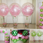 Hot-air Balloon Decoration Package (Colors Lime Green & Baby Pink)