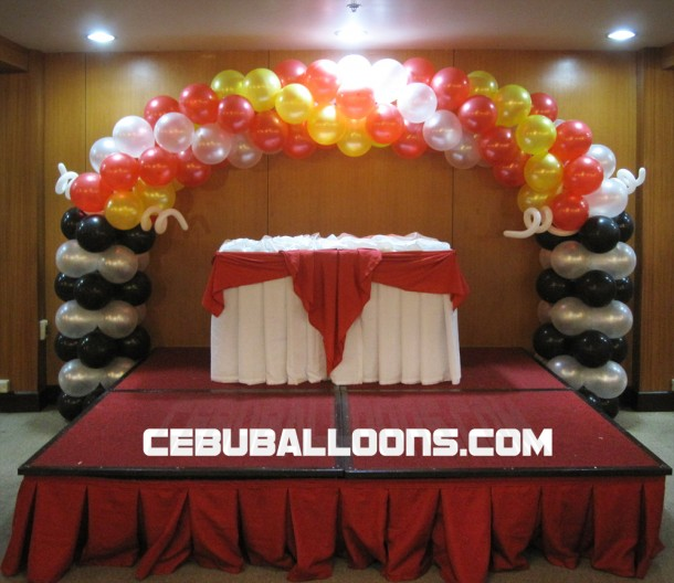 Huge Cake Arch for Ferrari Theme Birthday