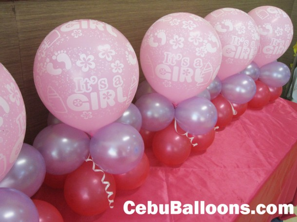 It's a Girl Balloon Centerpieces
