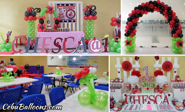 Ladybug Balloons & Styro Decoration at Play Maze Park Mall Cebu