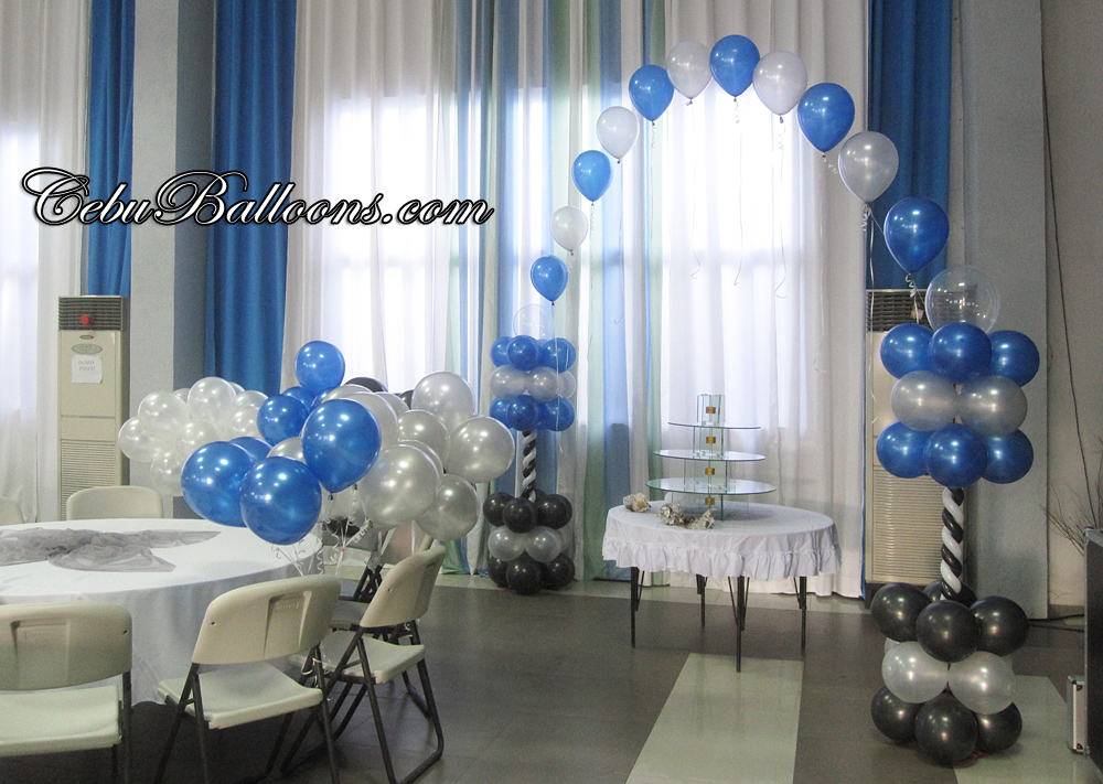 Large Cake Arch Flying Balloons