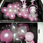 Late night delivery of Christening Balloons at Green Plains Subdivision in Banilad