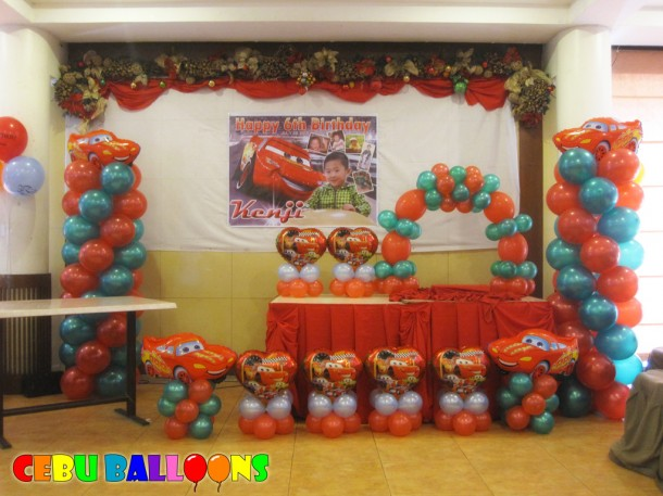 Lightning McQueen Balloon Decoration at Sugbahan