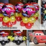 Lightning McQueen Balloon Decors with Standee at All Sons Inn