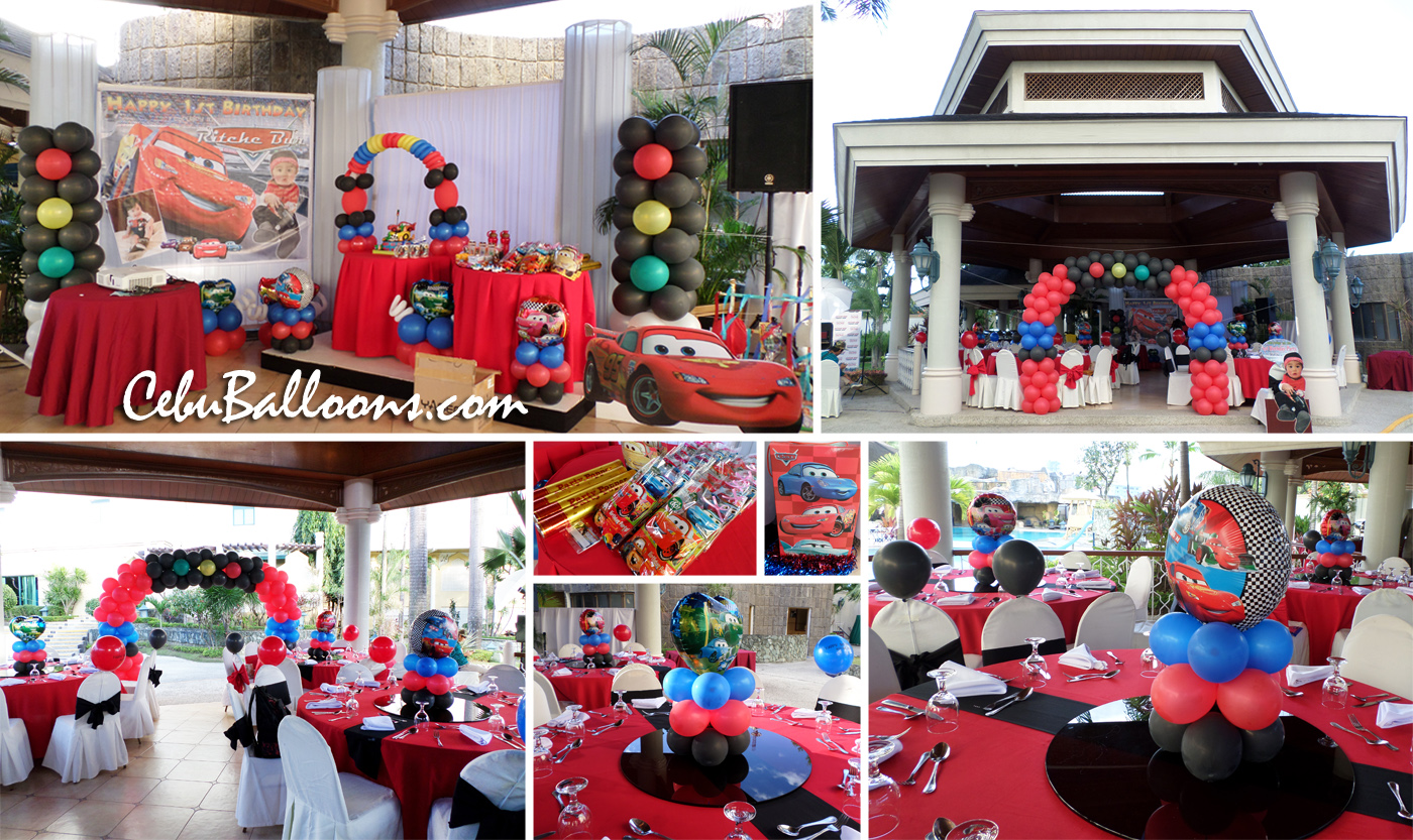 Lightning McQueen Complete Birthday Party Package at Waterfront Pool