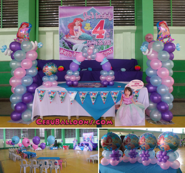Little mermaid ariel cebu balloons and party supplies for Ariel party decoration ideas