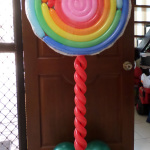 Lollipop Column for Carnival Theme