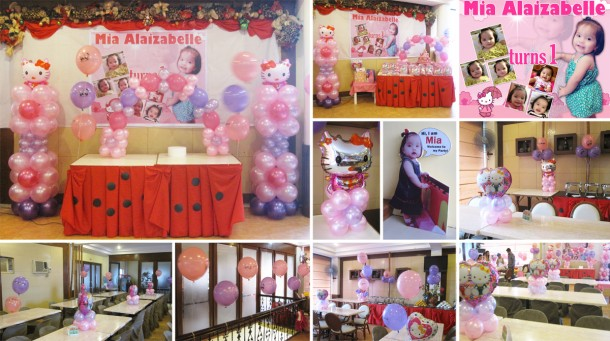 Mia Alaizabelle turns 1 (Hello Kitty Balloon Decoration Package at Sugbahan)