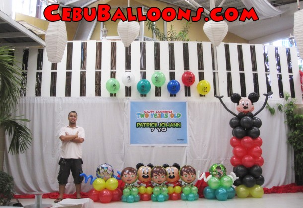 Mickey & Ben 10 Balloon Setup at Talamban Leisure Center