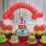 Mickey & Friends Cake & Balloon Cake Arch