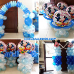Mickey & Friends Christening Balloon Decors (Blue, Light Blue, White)