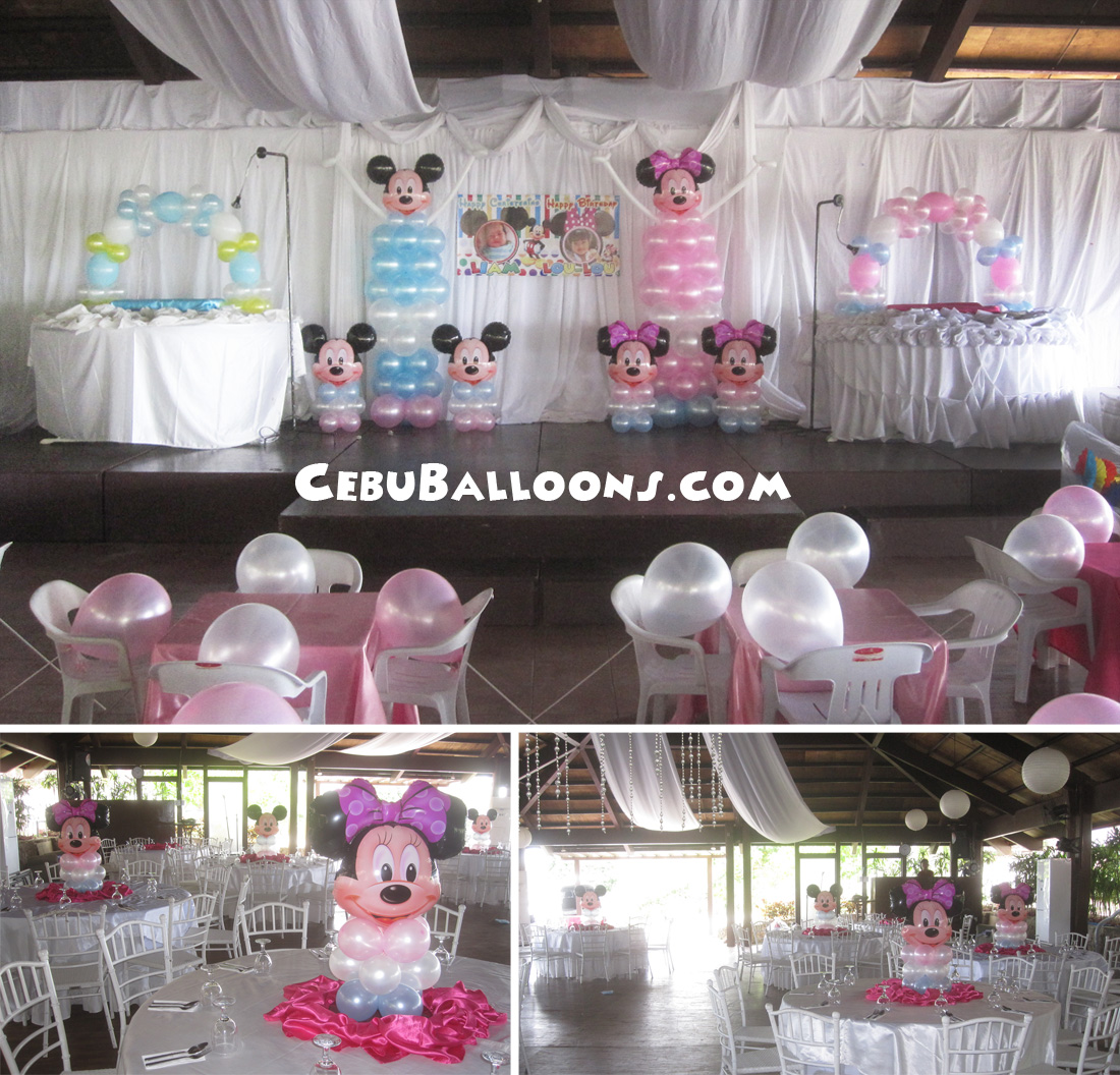 Minnie mouse cebu balloons and party supplies for Balloon decoration packages