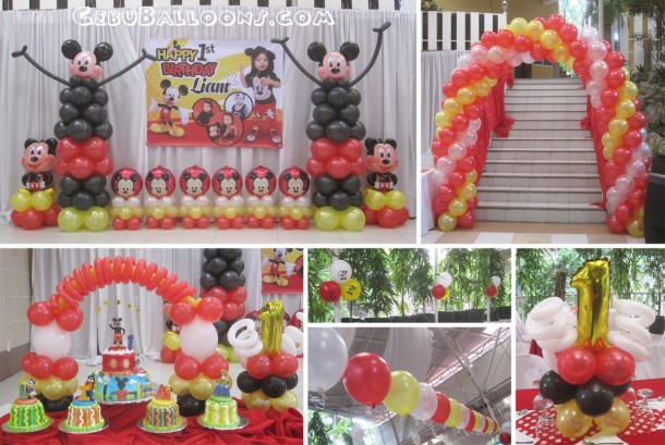 Mickey Mouse Balloon Arrangement at TLC