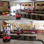 Mickey Mouse Balloon Budget Decor D with Tarp & Clown at Sugbahan