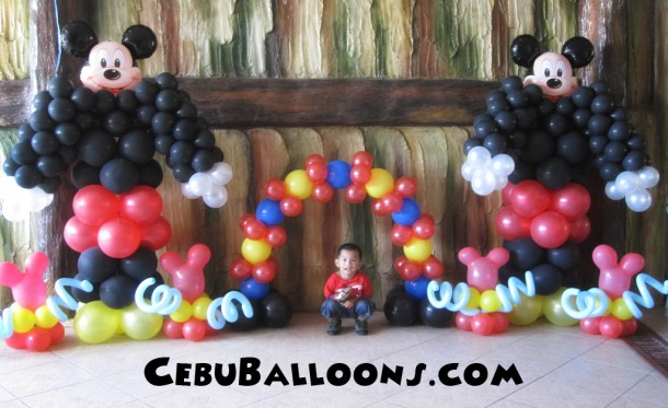 Mickey Mouse Balloon Decoration at Caballero Compound, Tisa
