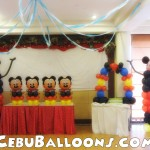 Mickey Mouse Balloon Decoration at Sugbahan
